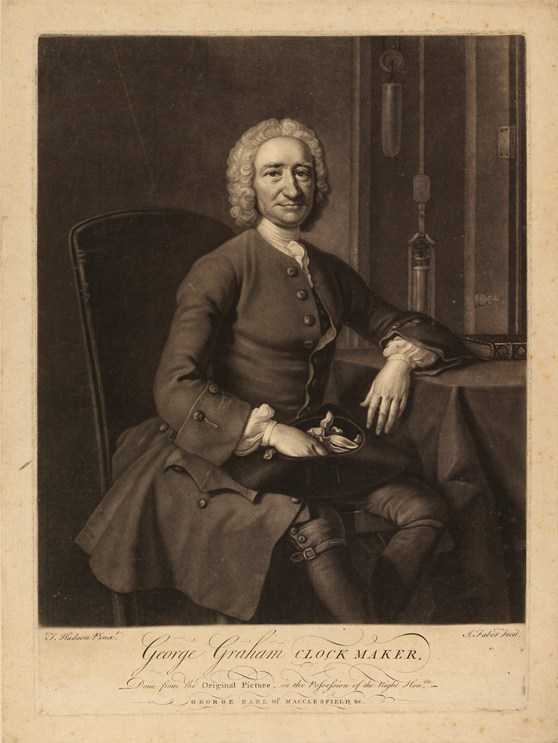 Ink mezzotint portraint of George Graham