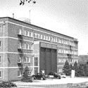 Black and white photograph of the National Institute of Oceanography building in 1953