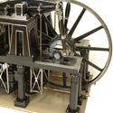 Colour photograph of a model of a beam engine from 1840