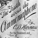 A 19 century print advertisement entitled the truth about the ammoniaphone