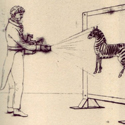 Illustration of the Improved Phantasmagoria Lantern in use
