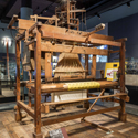 A Jacquard loom on display at the National Museum Scotland
