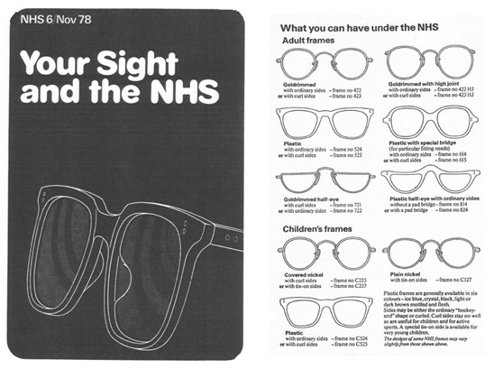 Black and white leaflet from November 1978 entitled Your Sight and the NHS