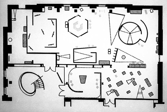 Floorplan diagram of the This is a Voice exhibition at the Wellcome Collection