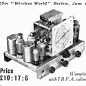 Newspaper advertisement for a 7 valve all wave superhet radio receiver