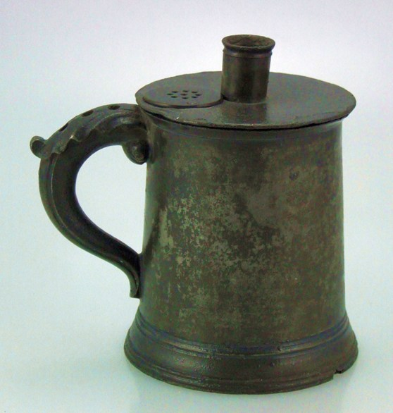 Colour photograph of a pewter inhaler from 1778