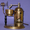 Colour photograph of a steam powered inhaler from 1871