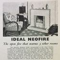 Magazine advertisement from the national smoke abatement society for the Ideal Neofire