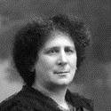 Black and white portrait photograph of Hertha Ayrton