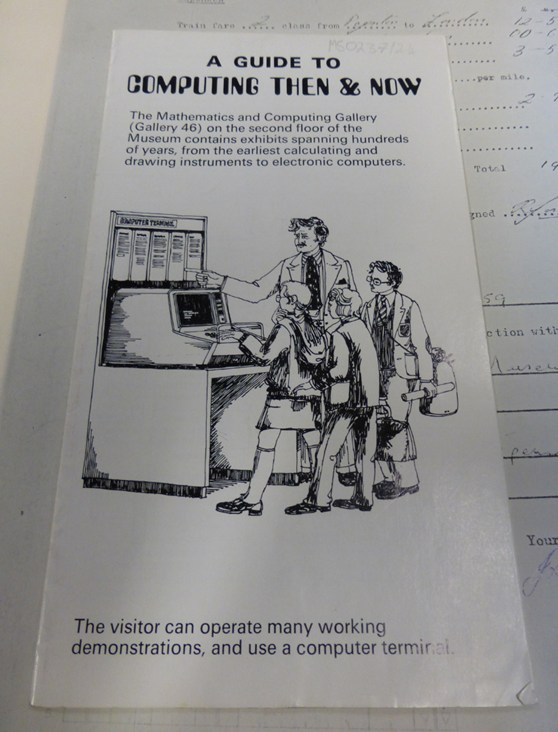 Pamphlet entitled a guide to computing then and now
