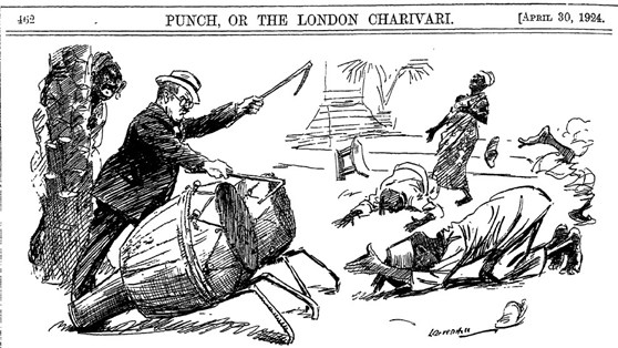 A satirical cartoon from Punch relating to African stereotypes
