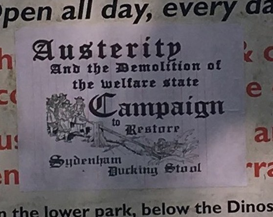 Fly poster relating to austerity