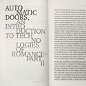 Photographs of the typeface used for Paul O Kanes Technologies of Romance two