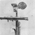 Black and white photograph of the ear phonautograph