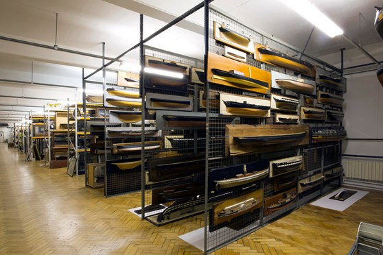 Colour photograph of museum collections in storage