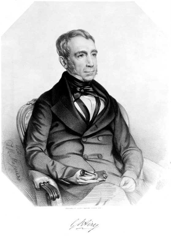Lithograph portrait of George Biddell Airy