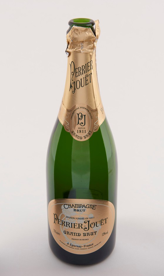 Colour photograph of a champagne bottle