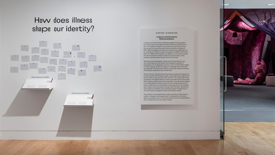 Colour photograph of a text wall at an exhibition entrance