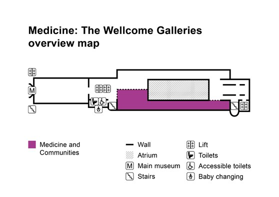 Medicine and Communities gallery overview map