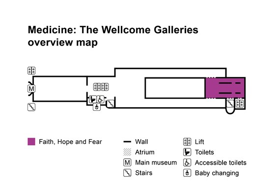 Faith Hope and Fear gallery overview map