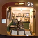 Colour photograph of medical history dioramas in a museum
