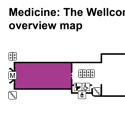 Medicine and Bodies gallery overview map