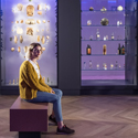 Colour photograph of an attendee in the Wellcome Medicine Galleries